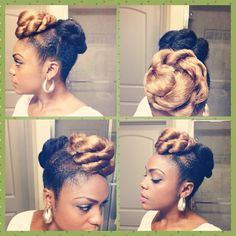 Protective styles for natural hair. Simple, easy, cute.