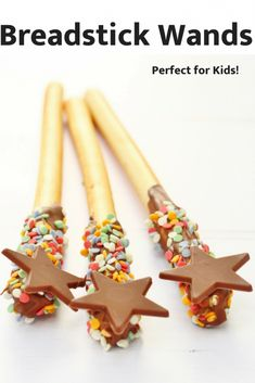 These breadstick wands or fireworkds are brilliant for kids and are a great activity to make for parties or playdates. They've got just 3 ingredients and are fun to make and very easy too. They're also really tasty! for kids Breadstick Wands and Fireworks Melting Chocolate, Chocolate Sprinkles, Tinkerbell, Orlando, Hungry Caterpillar Cake, Chocolate Garnishes, Cooking With Kids, Easy Cooking, Cooking Recipes