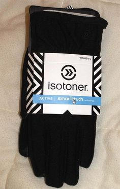 Womens ISOTONER SmarTouch Gloves Texting Winter Black Thermaflex Warm M/L NEW  #ISOTONER #WinterGloves #Casual