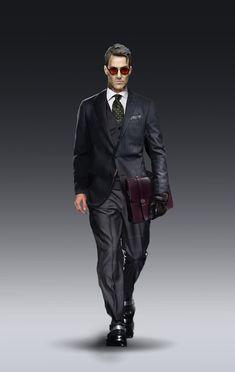 Film noir detective - character design for my IP