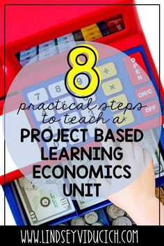 Project Based Learning might seem challenging for the elementary grades, but it can be done! Here are 8 practical steps and ideas for how to do a successful PBL economics unit with your first grade or second grade students! This unit covers social studies and math standards for primary kiddos.