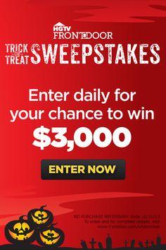 Enter for your chance to win! >> http://www.frontdoor.com/halloween?soc=pinterest