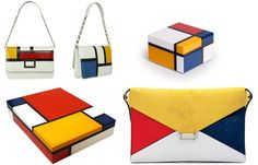 French Artist Piet Mondrian Dressing Table Boxes Inspiring Hollywood Interior Design Accents, Courtesy of InStyle-Decor.com Beverly Hills for Interior Design Fans to Enjoy