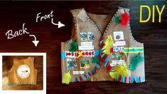 for all grade students , You will enjoy and learn from this video how to make a Native American Vest from grocery paper bag in very easy and fast way ,you will have fun to do it by your self or with your parents, american Kid Crafts, Decor Crafts, Arts And Crafts, Indian Costume Kids, School Projects, Art Projects, Ceramic Monsters, Pilgrims And Indians, Native American Crafts