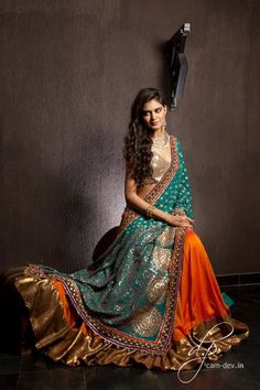 Shyamal  Bhumika   look and love    designer saree