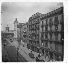 Vista panoràmica del carrer Pelai de Barcelona :: Fons fotogràfic Salvany (Biblioteca de Catalunya)