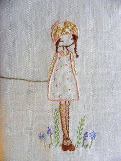 yes-iamredeemed:  ♥ Embroidery daisy girl by lili_popo on Flickr