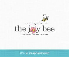 Bee Logo Design Bee Photography Logo by GraphicsCrush on Etsy