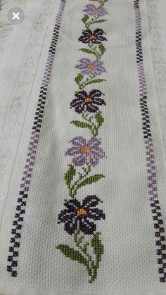 Cross Stitch Bird, Cross Stitch Borders, Cross Stitch Designs, Cross Stitch Patterns, Ribbon Embroidery, Cross Stitch Embroidery, Graphic Design Portfolio Examples, Hand Embroidery Design Patterns, Palestinian Embroidery