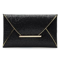 Elegant Women's Evening Bag With Sequined and Metallic Design