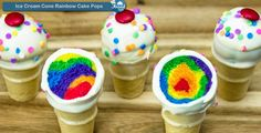 How to make a Perfect Ice Cream Cone Rainbow Cake Pops !