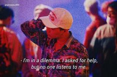 """Sono in un dilemma. Ho chiesto aiuto, ma nessuno mi ascolta."" Bts Lyrics Quotes, Bts Qoutes, Pop Lyrics, Fact Quotes, Some Quotes, Bts Angst, Bts Texts, Korean Quotes, Quote Aesthetic"