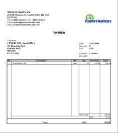 Get Word Invoice Template  Projectemplates  Excel Project