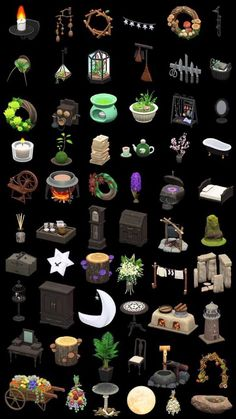 """Any animal crossing peeps got any of these? Or anything spooky? I need to up my goth queen witch decor game. I have bells!"