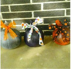 Cute and colorful pumpkins