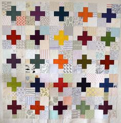Oakshott and low volume plus quilt by AdrianneNZ, via Flickr