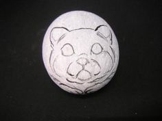 Rockpainting - Cat 0005..this is the sketch for the painted cat rock!