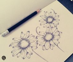 tattoo ideas, notebook, draw tattoo, artworks, flower drawings, inspiring pictures, draw flower, design, flowers drawings