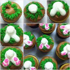 Lola Pearl Bake Shoppe: Anatomy of Easter Bunny (Butt) cupcakes