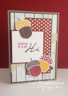 Carolina Evans - Stampin' Up! Demonstrator, Melbourne Australia: Acorny Thank You Hi Card for #Mojo411