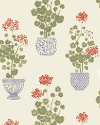 A wallpaper for the kitchen in my future summer house.  Sandberg Elin Cremevit 489-11.