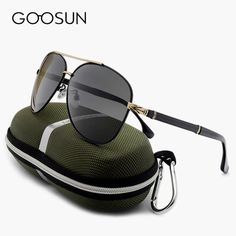 FuzWeb:GOOSUN Luxury Men's Sunglasses Polarized men Driving Fishing Male Outdoor UV400 Vintage Eyewears