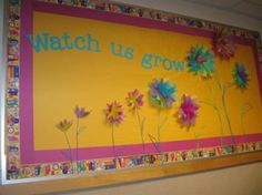 This would be a great spring bulletin board! You could add pictures of new things the children can do too.