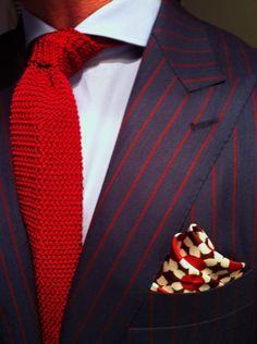 Jacket + square. Tie...best elsewhere.