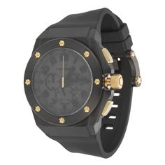 Tech CEO Chronograph Watch In Black & Gold//