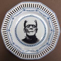 "Frankenstein Portrait Plate by Beat Up Creations | ""It's Franken-shteen"""