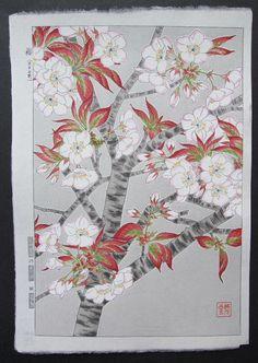 SAKURA (Cherry Blossoms) by Kawarazaki Shodo (1889 -1973)