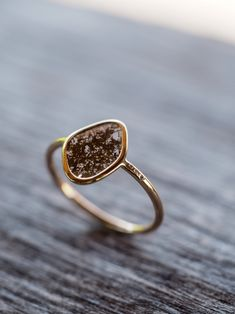 She told you she doesn't need diamonds. She told you she doesn't wear gold. She doesn't normally wear rings either. But this ring, well, she's something differe