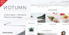 Notumn is a Clean, Elegant and Minimal WordPress theme specially made for creative bloggers. It provides clean, clutter free and gorgeous minimalistic layouts that make your content look great on a...