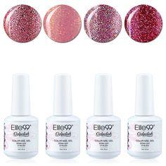Qimisi Soak Off Gel Polish Lacquer UV LED Nail Art Manicure Kit 4 Colors Set LM-C132   Free Gift (20pcs Gel Remover Wraps) *** For more information, visit image link.