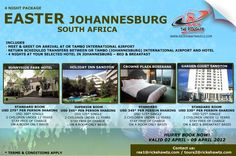 South Africa - Easter Special Package: 4 Nights in Johannesburg - From $275 pp Sharing Hurry Book Now!