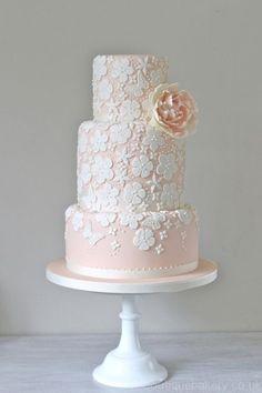 white applique cake - Google Search