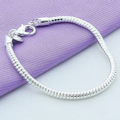 WSB016 Fashion Designer Women's Girl's Silver Plated 3mm Snake Chain Bangle Bracelet Party Cocktail♦️ B E S T Online Marketplace - SaleVenue ♦️👉🏿 http://www.salevenue.co.uk/products/wsb016-fashion-designer-womens-girls-silver-plated-3mm-snake-chain-bangle-bracelet-party-cocktail/ US $0.75