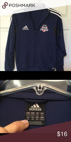 Adidas Blue Jacket size 14/16 Adidas Blue Jacket size 14/16 for soccer/track/volleyball Adidas Jackets & Coats