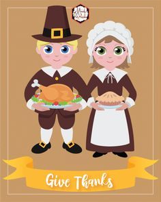 Pilgrims | Thanksgiving Decor Sign Free Printable | Mandy's Party Printables