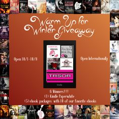 enter to win a Kindle Paperwhite & Five Ebook Packages (top 10 ebooks from each blog)