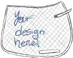 English Saddle Pad -- Custom Painted, via Etsy. (Would be cool to get the SRRS logo printed on one!)