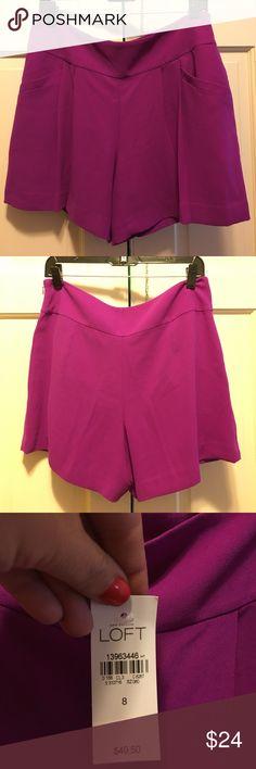 ANN TAYLOR LOFT DRESS SHORTS NWT Beautiful purple LOFT dress shorts. LOFT Shorts Skorts