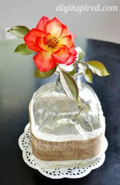 Recycled Patron Tequila Bottle Vase - DIY Inspired