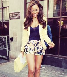 floral shorts and blazer !