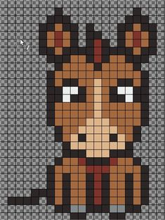 HORSE perler bead pattern by JeromeDIY - Mon modèle de CHEVAL/PONEY pour perles à repasser Loom Beading, Beading Patterns, Pixel Art, Modele Pixel, Beading For Kids, Pixel Crochet, Animal Bag, Peler Beads, Horse Party