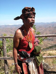 Man in traditional dress, East Timor - East Timor - Wikipedia, the free encyclopedia Tribes Of The World, Timor Oriental, Island Man, Timor Leste, Beautiful Sunrise, Brunei, Traditional Dresses, Southeast Asia, Nepal