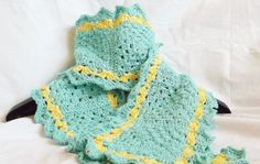 scarf hand made from soft vintage cotton yarn in by MissSnowdrop Crochet Scarves, Crocheted Scarf, Etsy Uk, Vintage Cotton, Hand Crochet, Etsy Shop, Turquoise, Boho, Yellow