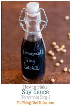 Impress your friends and save money by making your own soy sauce from scratch. Today we'll learn how to make a homemade shoyu a fermented Japanese soy sauce made from soybeans and wheat berries. Healthy Snacks For Diabetics, Healthy Appetizers, Healthy Eating Recipes, Real Food Recipes, Healthy Meals, Free Recipes, Homemade Soy Sauce, Recipes With Soy Sauce, Paprika Sauce