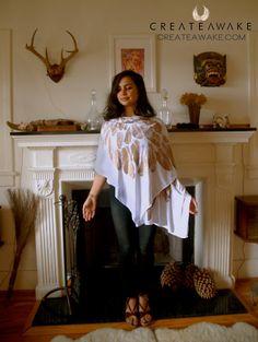 Sacred Geometry Arch Angel Wrap Scarf Skirt by CreateAwakejewelry