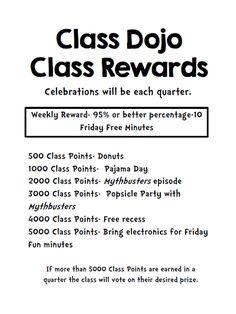Class Dojo for Rewards-This Elementary Life blog